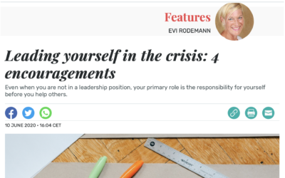 Leading yourself in the crisis: 4 encouragements